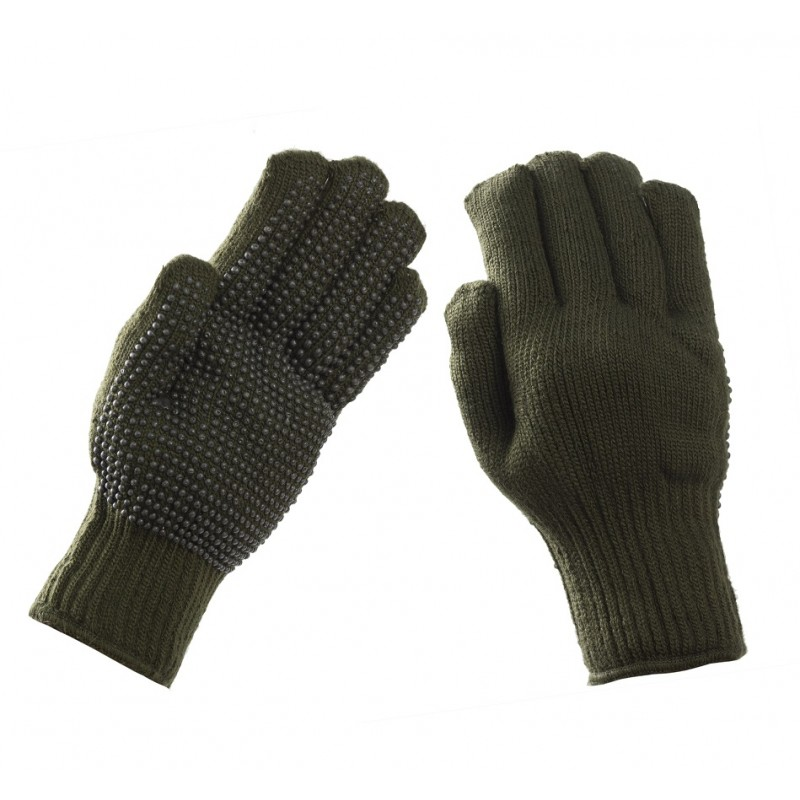 Γάντια πλεκτά πετσετέ με pvc Χακί 102 1f5385aa7e8